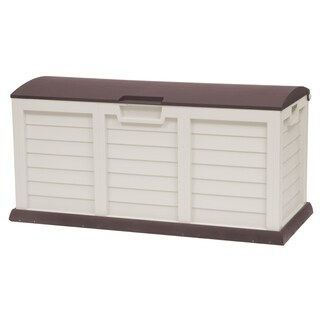 103 Gallon Deck Box With Dome Lid, Light Mocha/Brown