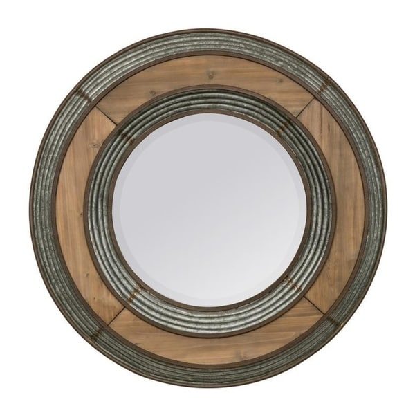 Shop Montera 33 Diameter Oversized Round Wall Mirror Black Brown