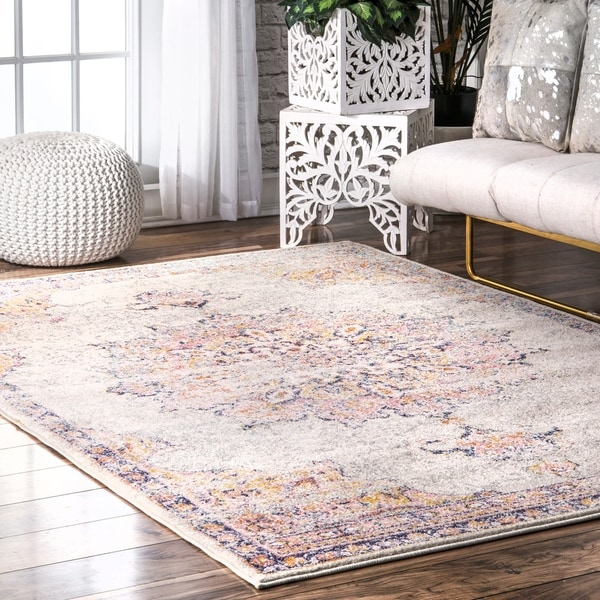Shop Nuloom Orange Vintage Persian Sunny Wildflower Medallion Area