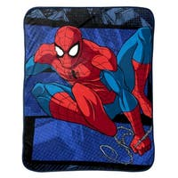 "Marvel Spiderman Burst Plush Throw, 46"" X 60"""