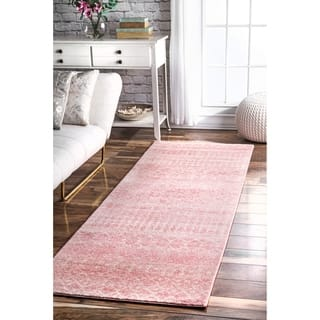 NuLOOM Pink Geometric Moroccan Beads Tribal Runner Area Rug
