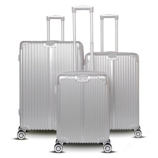Gabbiano Macan Collection 3 Piece Expandable Hardside Spinner Luggage Set