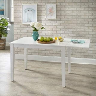 Simple Living Newcastle Drop Leaf Dining Table - White
