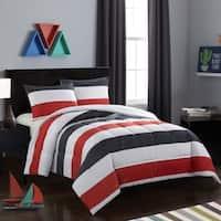 Jayden Black and Red Comforter Set