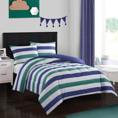 Jayden Green and Blue Comforter Set