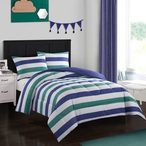 Jayden Green and Blue Comforter Set