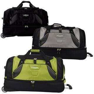 Travelers Club Adventure 30-inch Drop Bottom Rolling Duffel Bag