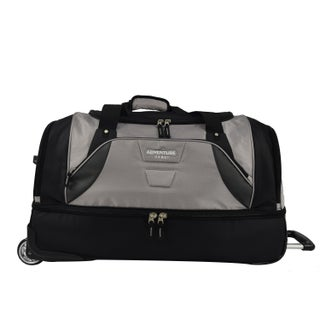 Travelers Club Adventure 30-inch Drop Bottom Rolling Duffel Bag