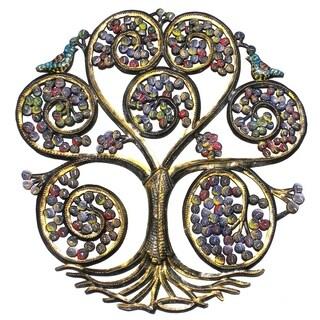 Handmade Autumn Spiral Tree of Life (Haiti)