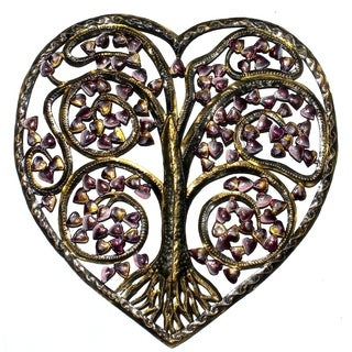 Handmade Autumn Heart Tree Of Life (Haiti)