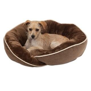 Aspen Pet Luxe Wrap Lounger Dog Bed - 21 x 19