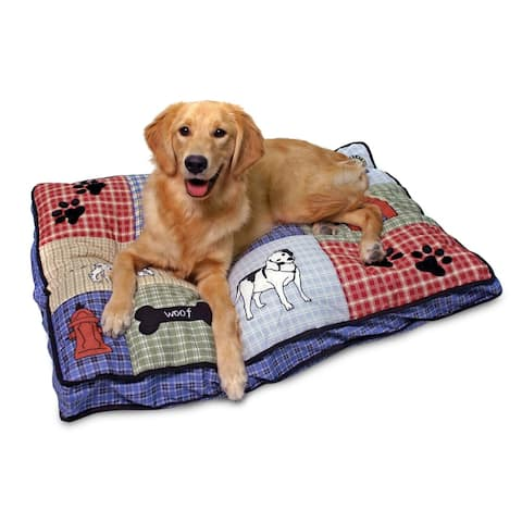 """Aspen Pet Quilted Classic Applique Gusseted Dog Bed - 36"""" x 27"""""""