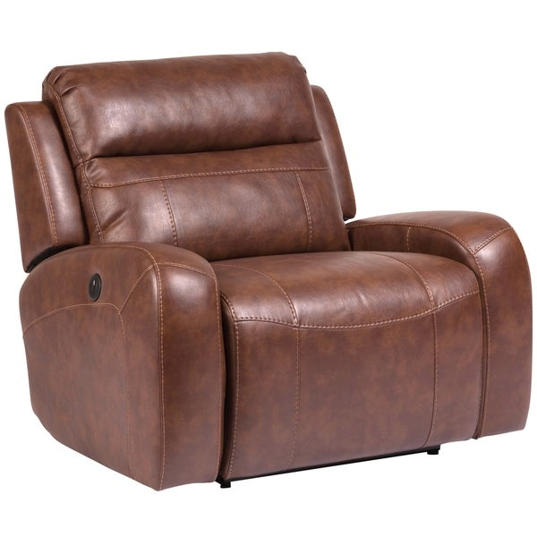 Shop Porter Designs Riverton Brown Leather Look Fabric