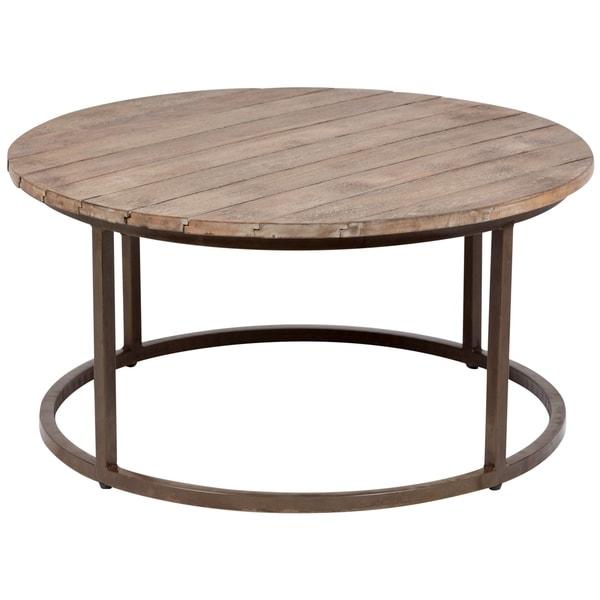 "Handmade Broomfield Rustic Coffee Table - 36"" x 36"" x 18.5"" (India)"