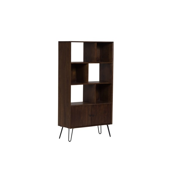Wanderloot Graphik Contemporary Chestnut Solid Mango Wood Bookshelf