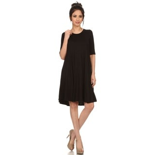 Women's Fit and Flare Print Round Neck Pleated Short Dress