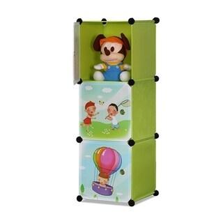 ALEKO Children's Collapsible Multipurpose Organizer 3 Level Cubes