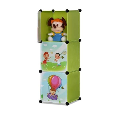 ALEKO Children's Collapsible Multipurpose Organizer 3 Level Cubes