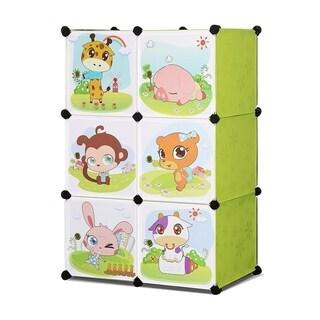 ALEKO Children's Interlocking Multipurpose Organizer 3 Level 6 Cube