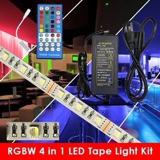 LED Strip Light Kit -RGBW - Power Supply & Mini RF Remote Control