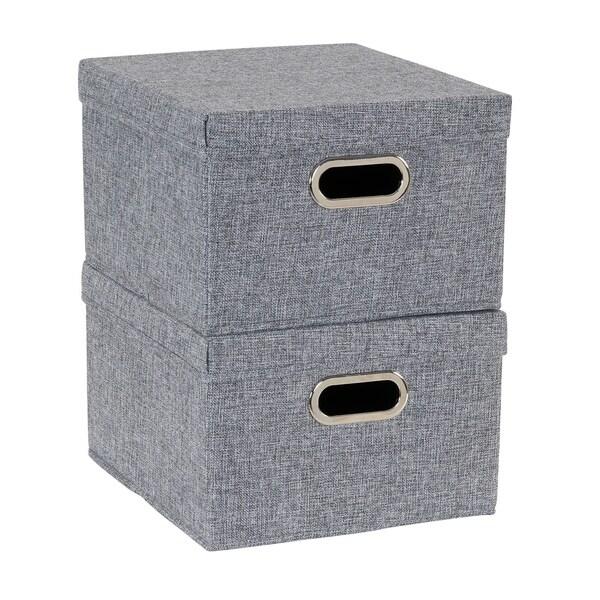 Collapsible Linen Box Set 2pc; Graphite. Opens flyout.