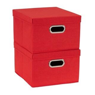 Collapsible Linen Box Set 2pc; Tomato