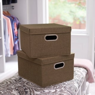 Link to Collapsible Linen Box Set 2pc; Moss Similar Items in Storage & Organization