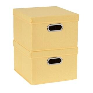 Collapsible Linen Box Set 2pc; Sunburst