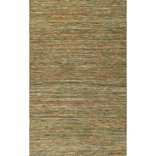 DENVER Hand Loomed Casual Multi Flatweave Wool Area Rug 9' x 13' - 9' x 13'
