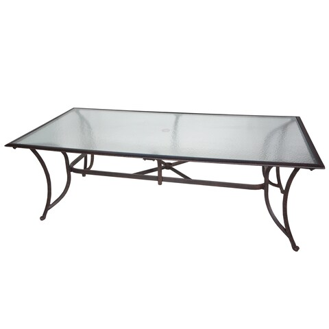 """Miami 42""""x84"""" Glass-Top Dining Table - N/A"""