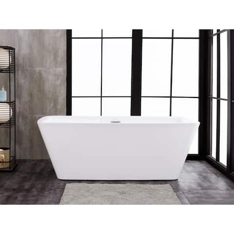 "Emma 67"" x 29"" Freestanding Acrylic Soaking Bathtub"