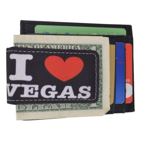 AFOniE Vegas Lover Leather Money Clip