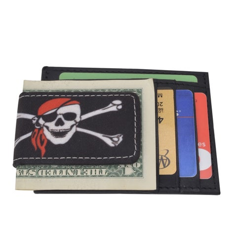 AFONiE Pirate Design Leather Money Clip