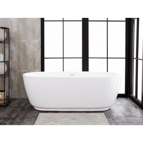 "Concetto 66"" x 29"" Freestanding Acrylic Soaking Bathtub"
