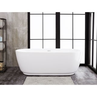 "Concetto 66"" x 29"" Freestanding Acrylic Soaking Bathtub"