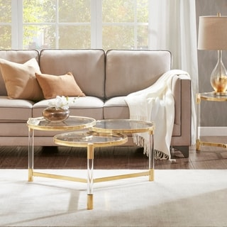 Madison Park Bartow Gold Coffee Table