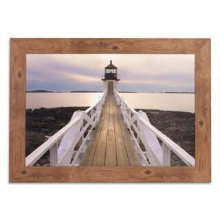 Marshall Point Lighthouse Photography Framed Canvas Art