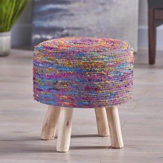 Chiloquin Silk Swirl Stool by Christopher Knight Home
