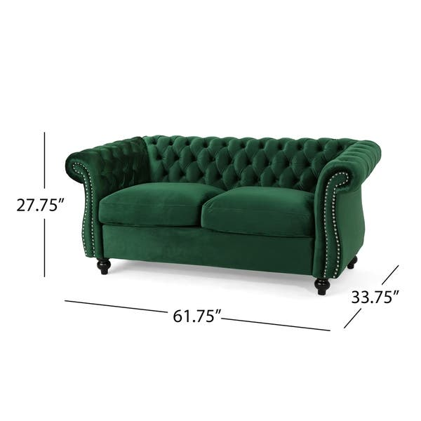 Magnificent Shop Somerville Traditional Chesterfield Loveseat Sofa By Onthecornerstone Fun Painted Chair Ideas Images Onthecornerstoneorg