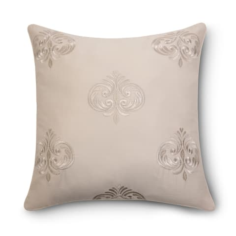 "Pointehaven Riviera Embroidered 18"" Square Accent Pillow"