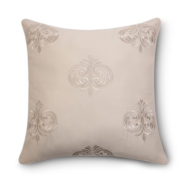 """Pointehaven Riviera Embroidered 18"""" Square Accent Pillow. Opens flyout."""