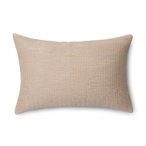 "Pointehaven Riviera Ultra Rouched 12"" x 20"" Decorative Pillow"