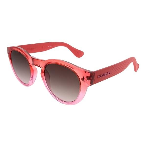 25b0a4fe00756 Havaianas Round Trancoso M 1N5 HA Unisex Coral Frame Brown Gradient Lens  Sunglasses