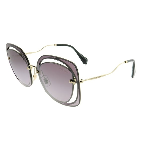 44f7c7f3740 Miu Miu Fashion MU 54SS Scenique Cut-out ZVNAD6 Woman Pale Gold Frame  Violet Gradient