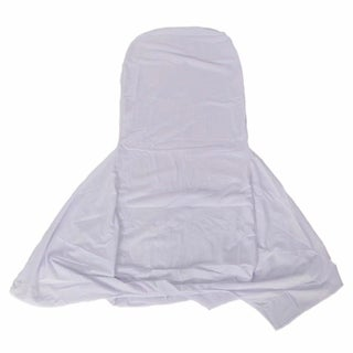 100pcs Elastic Face Arch Polyester Spandex Chair Covers White