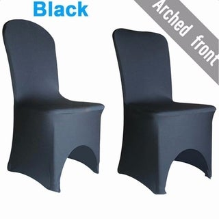 100pcs Elastic Polyester Spandex Chair Covers Black