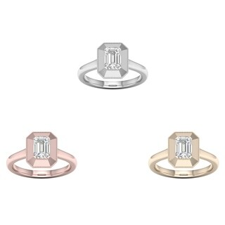 De Couer 14k Gold 3/4ct TDW Diamond Solitaire Ring