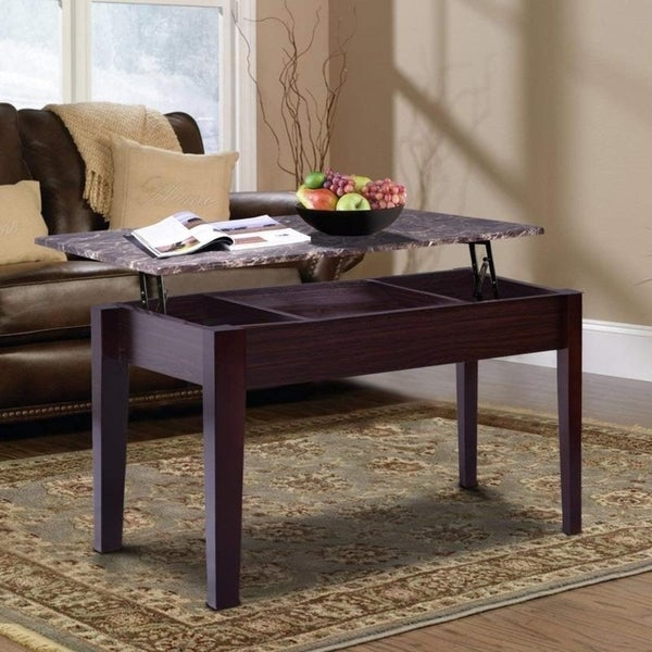 Shop Copper Grove Burrel Faux Marble Lift-top Coffee Table
