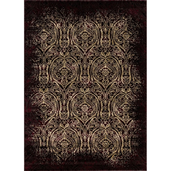 Mod-Arte Crown Collection CR06 Red Vintage Pattern Traditional Area Rug -  7  x27 5a7b91f1935a