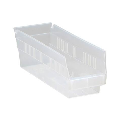 "Quantum QSB101 Clear View Economy 4"" Shelf Bins - 36 Pack"
